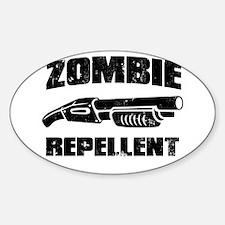 shotgun zombie repellent Oval Decal