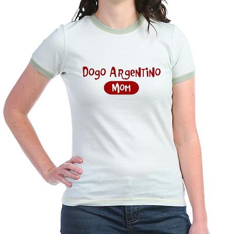Dogo Argentino mom Jr. Ringer T-Shirt