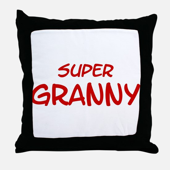 Super Granny Throw Pillow