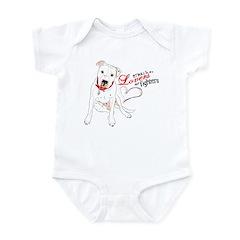 pit bull baby Infant Bodysuit/baby carter