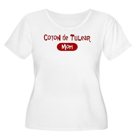 Coton de Tulear mom Women's Plus Size Scoop Neck T