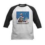 Christmas Maine Coon Cat Kids Baseball Jersey