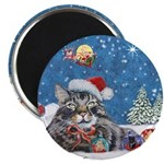 Christmas Maine Coon Cat Magnet