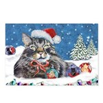 Christmas Maine Coon Cat Postcards (Package of 8)