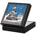 Christmas Maine Coon Cat Keepsake Box