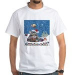 Christmas Maine Coon Cat White T-Shirt