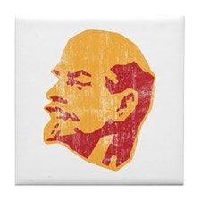 lenin retro portrait Tile Coaster