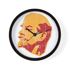 lenin retro portrait Wall Clock