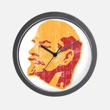 lenin retro portrait Wall Clock