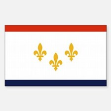 New Orleans City Flag Rectangle Decal