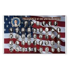 United States Presidents Rectangle Decal