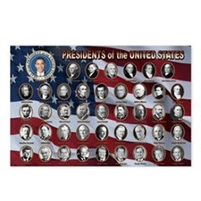 United States Presidents Postcards (Package of 8)