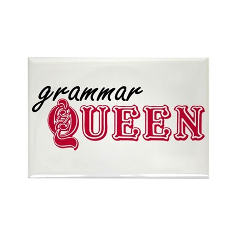 Grammar Queen Rectangle Magnet