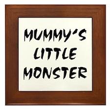 MUMMY'S LITTLE MONSTER! Framed Tile