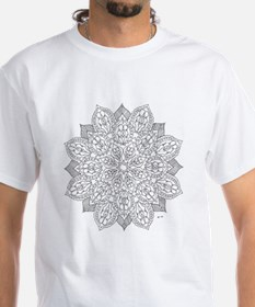 Stained Glass Flower Color Your Own Shirt