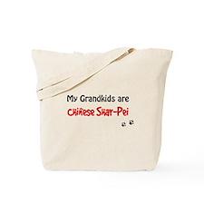 Shar Pei Grandkids Tote Bag