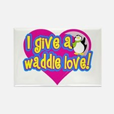 Waddle Love Rectangle Magnet