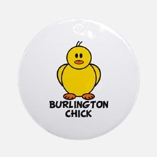 Burlington Chick Ornament (Round)