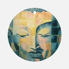 Tiled Buddha Ornament (Round)