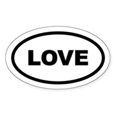 Love Oval Decal