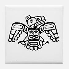 Haida Eagle BW Tile Coaster