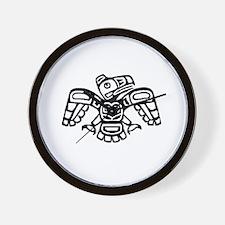 Haida Eagle BW Wall Clock