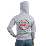 Heart Disease Get Checked Women's Zip Hoodie