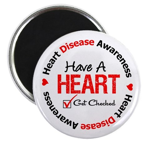 "Heart Disease Get Checked 2.25"" Magnet (100 pack)"