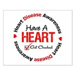 Heart Disease Get Checked Small Poster