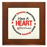 Heart Disease Get Checked Framed Tile