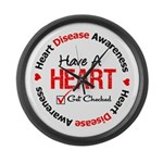 Heart Disease Get Checked Large Wall Clock