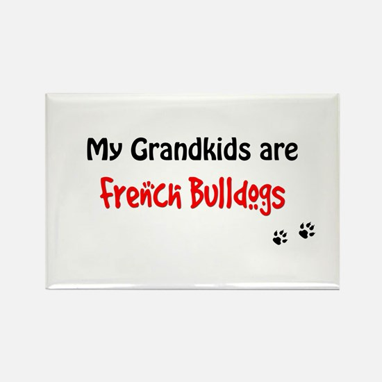 French Bulldog Grandkids Rectangle Magnet