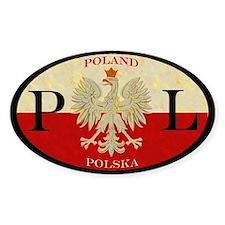 Poland Polska Oval Stickers