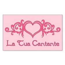 La Tua Cantante Rectangle Decal