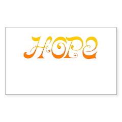 Hope Obama Rectangle Sticker 50 pk)