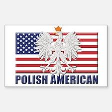 Polish American Rectangle Decal