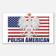 Polish American Rectangle Stickers