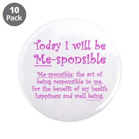 "Me-sponsible 3.5"" Button (10 pack)"