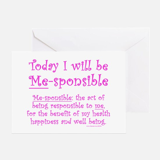 Me-sponsible Greeting Card