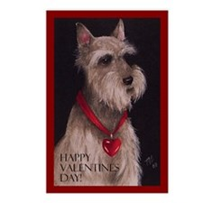 Valentines Schnauzer Dog Postcards (Package of 8)