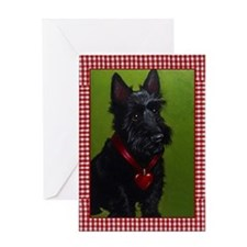 Valentine Scottie Dog Greeting Card