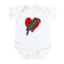 african gray love Infant Bodysuit