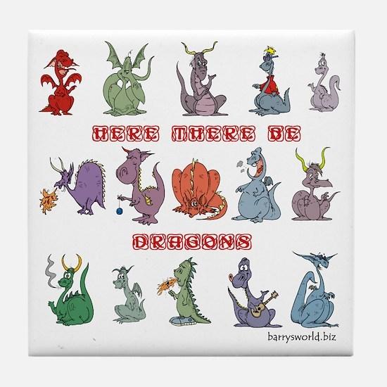 Dragons Tile Coaster