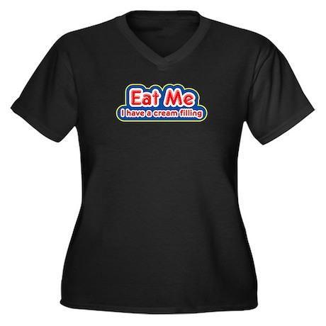 eat me Women's Plus Size V-Neck Dark T-Shirt