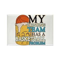Basketball Drinking Team Rectangle Magnet (10 pack