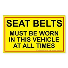 Fasten those belts Rectangle Decal
