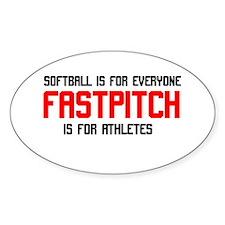FastPitch Oval Sticker (10 pk)