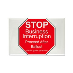 Sign of the times Rectangle Magnet (10 pack)
