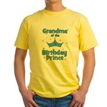 Grandma of the 5th Birthday P Yellow T-Shirt