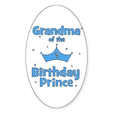 Grandma of the 5th Birthday P Oval Sticker